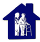 caregiver and patient in a blue house images